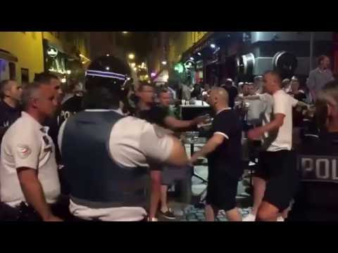 Battle of Marseille : England Fans Clash With Local French