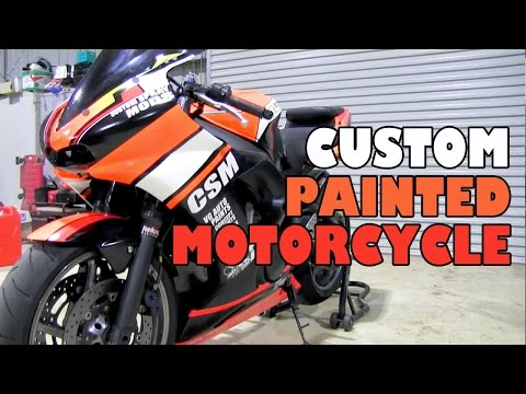 How to custom paint a motorcycle doovi for How much to paint a motorcycle