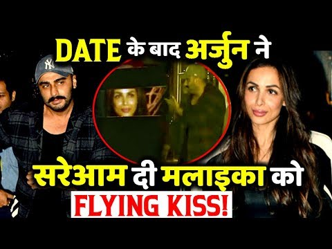 VIDEO: Malaika Arora Gets A Flying Kiss From Arjun Kapoor in Public
