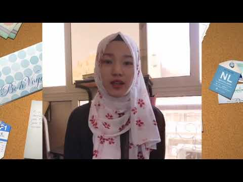 A message from Chinese student Maryam to all Arabic language
