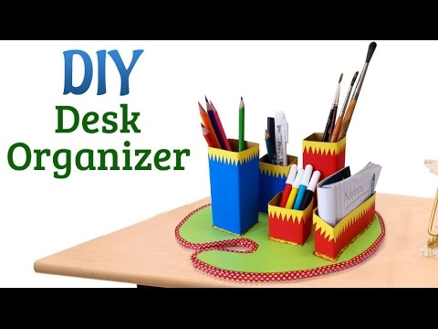 Diy Desk Organizer How To Use Cardboard For Pencil Organizer Recycled Craft Projects Golectures Online Lectures