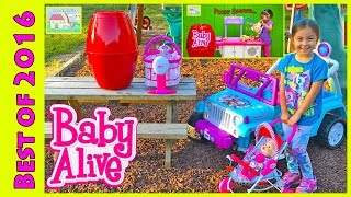 Video BIG Egg Surprise Opening Baby Alive dolls Frozen Elsa Ride-On Toys & Babies Nursery My Baby All Gone download MP3, 3GP, MP4, WEBM, AVI, FLV November 2017