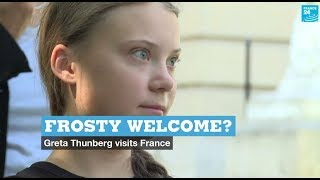 Frosty welcome? Greta Thunberg visits France