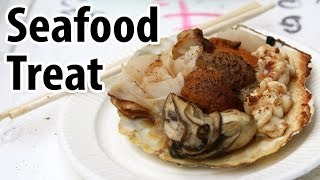 Japanese Street Food Seafood Treat (& My First Taste of