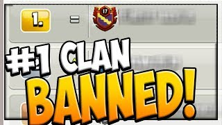 #1 CLAN BANNED?! Clash of Clans Clan War League CONTROVERSY!