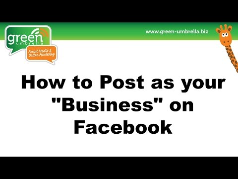 How to Post as your