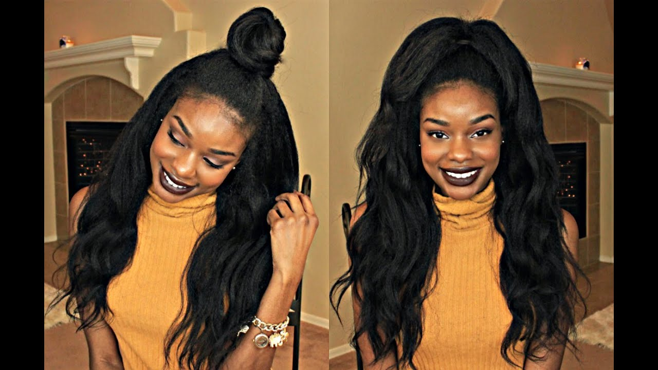 Half Up Half Down On A Lace Front Wig