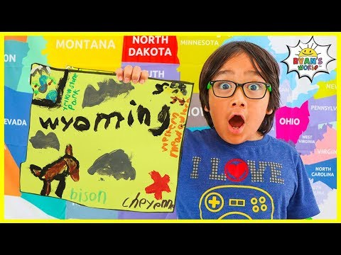 Learn US States And Capital For Kids Wyoming With Painting And Coloring!