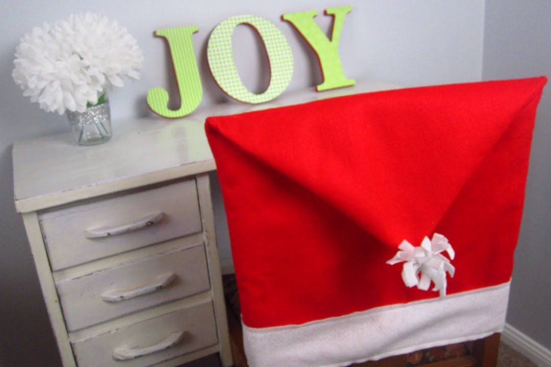 chair covers diy folding hire christmas santa hat youtube