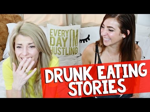 DRUNK EATING STORIES w/ THEGABBIESHOW // Grace Helbig