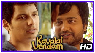 Latest Tamil Movies | Kavalai Vendam Movie Scenes | Jiiva upset with Kajal | Sunaina