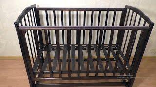 Сборка кроватки Мозжга Красная Звезда Кристина  Инструкция, как собрать кроватку с продольным маятни