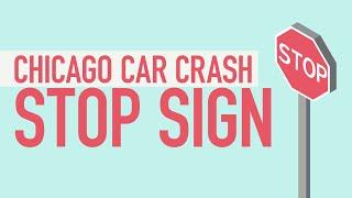 Chicago Car Crash Stop Sign [BJP#135]
