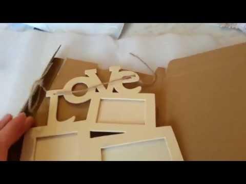 Деревянная заготовка - рамка для фото с aliexpress.
