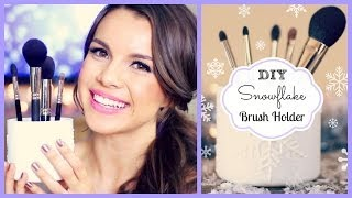 Diy Snowflake Brush Holder ❄ #diydecember Day 1