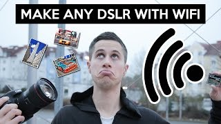 Send photos from DSLR to smartphone | QUMOX SD CF adapter | Canon 5D MK II WiFi