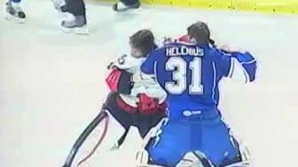 Hockey Goalie Fight | Robin Lehner vs Riku Helenius