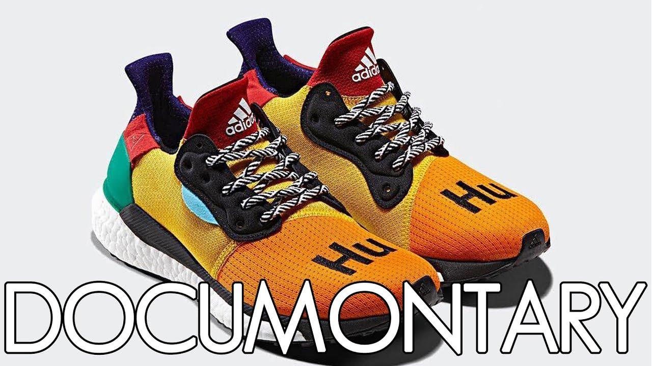 adidas x Pharrell Williams Solar Hu Glide Multi Color • Review & On Feet | DOCUMONTARY