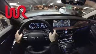 2017 Genesis G90 5.0 Ultimate - POV Night Drive (Binaural Audio)