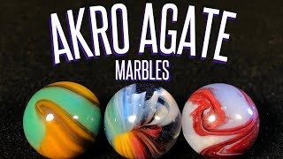 Akro Agate Marbles collection and identification