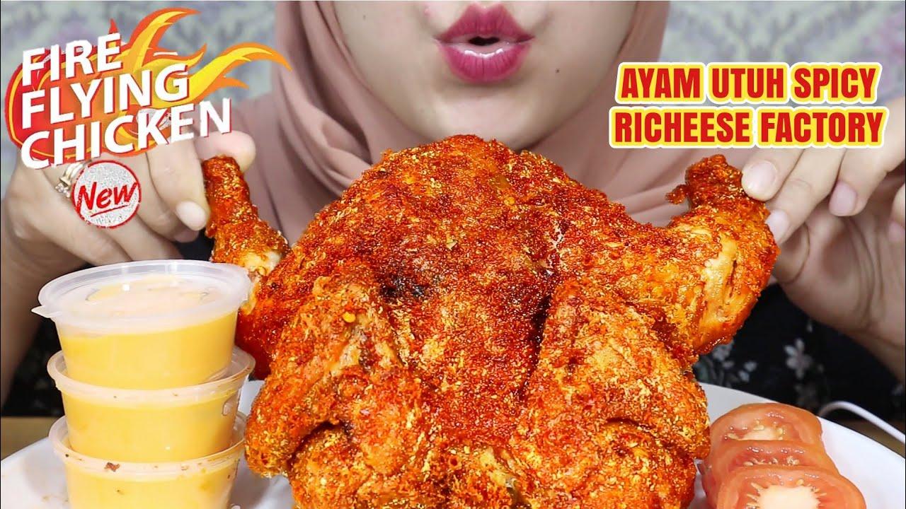 SPEECHLESS! ASMR AYAM UTUH PEDAS RICHEESE FACTORY | FIRE FLYING CHICKEN | ASMR INDONESIA