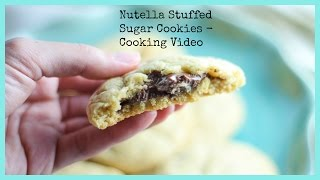 Nutella Stuffed Sugar Cookies - Cooking Video Recipe - Honest And Tasty