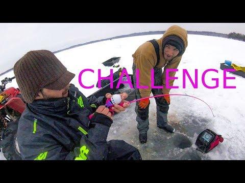 BARBIE POLE CHALLENGE IN 135 FOOT DEEP ICE LAKE
