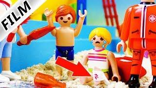 Playmobil Film deutsch | GLASSCHERBE im Fuß | Schwimmbad Unfall | Aquapark Kinderserie Familie Vogel