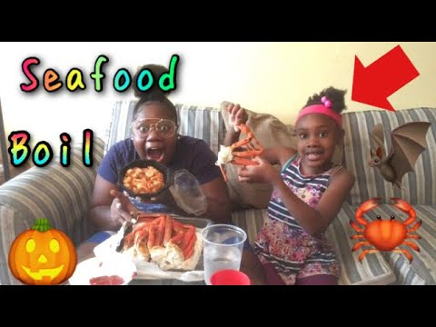 SEAFOOD BOIL (2)  CRAB LEGS AND JUMBO OLD BAY SHRIMP  MUKBANG EATING SHOW