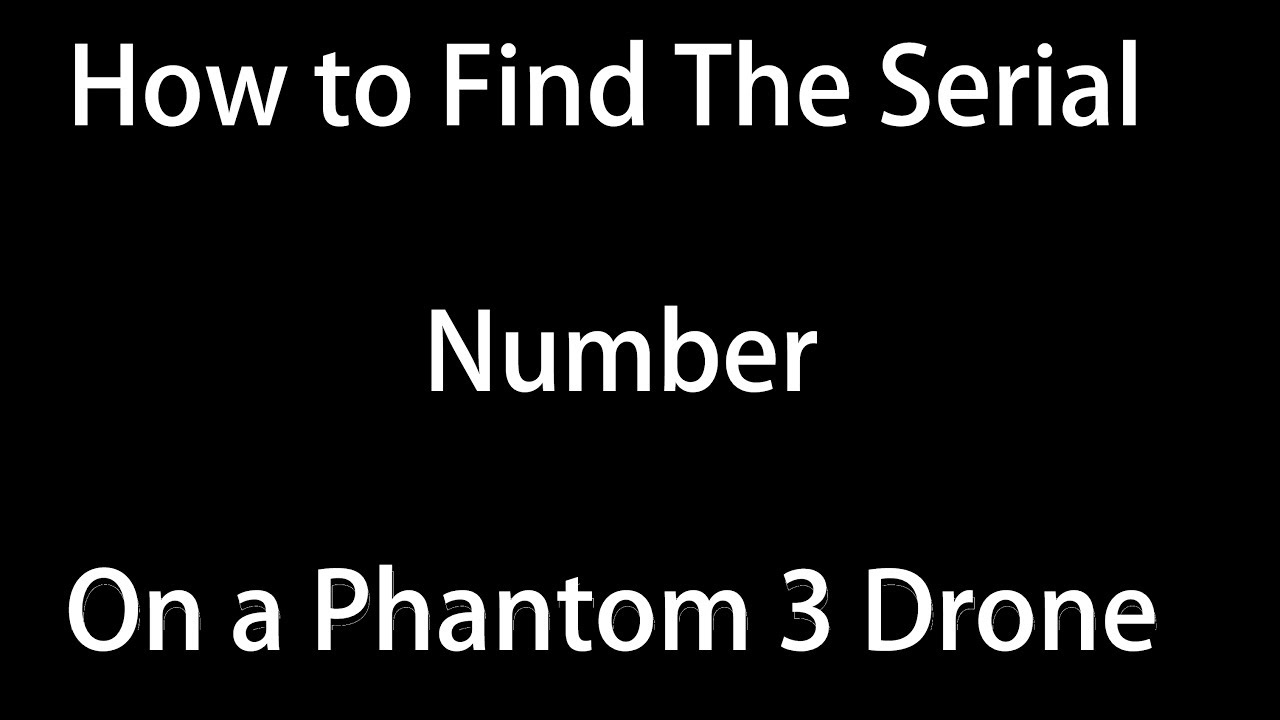 phantom 4 pro controller serial number