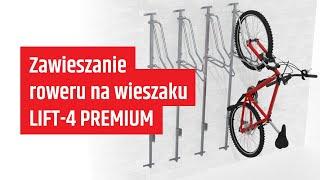 Wieszak na rowery LIFT-4 PREMIUM (4 stanowiska) video