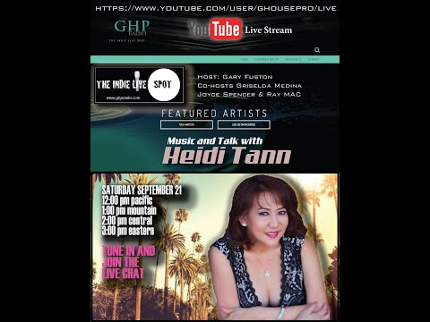 GHP Radio THE INDIE LIVE SPOT featuring vocalist Heidi Tann