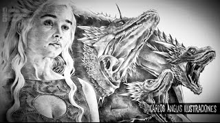 Khaleesi Mother of Dragons (Speed Drawing)