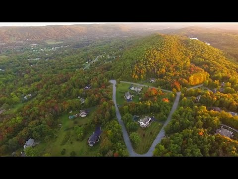 """October Evening""  from above 