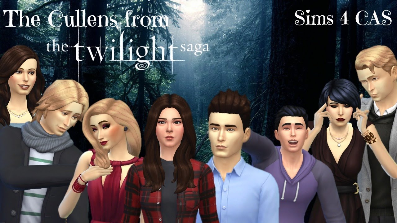 the cullens from the twilight saga sims 4 cas