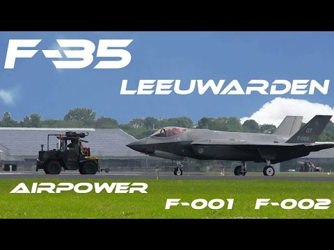 F-35  4K UHD F35 Leeuwarden 2016 Air Power Demo  Netherlands  F-001 F-002