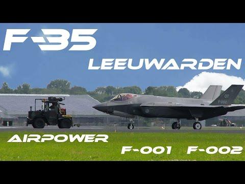 F-35  4K UHD F35 Leeuwarden 2016 Air Power Demo  Netherlands  F-001 F-002