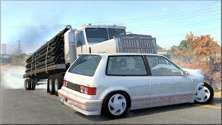 BeamNG Drive Trucks Vs Cars #15 - Insanegaz