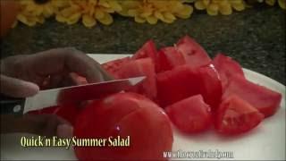 Greek Summer Salad | Tomatoes, Cucumbers & Red Onions