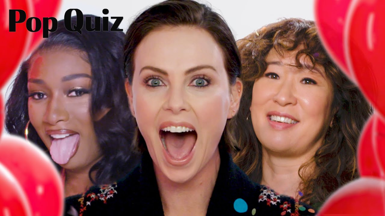 Charlize Theron, Megan Thee Stallion, Sandra Oh and More Tell All in 'Pop Quiz' | Marie Claire