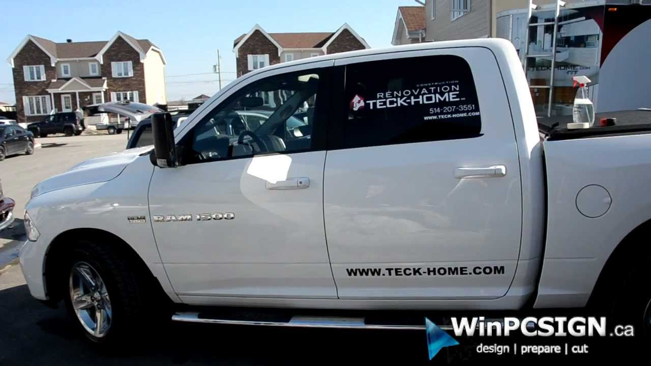 Truck Lettering Business Example Using Winpcsign Pro 2012 Amp Sm 24 Vinyl