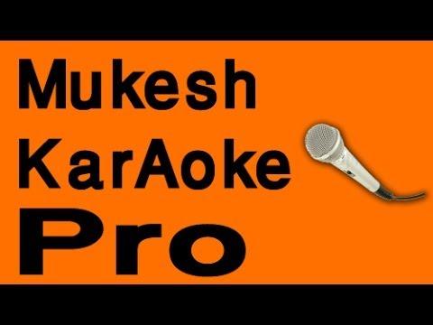 Mujhko Is Raat Ki - Mukesh Karaoke - Www.MelodyTracks.com