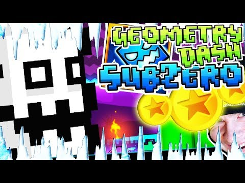 Geometry Dash 2.2 SubZero ALL LEVELS (Press Start, Nock Em, Power Trip) ALL COINS 100% Complete