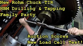 SNS 147 Part 1: Chuck TIR, HBM Drill&Tap, Load Cell, Auction Score, Family Party