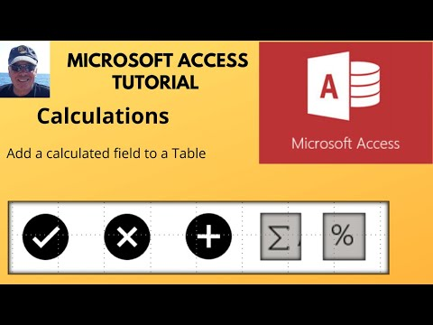 Microsoft Access - Adding a calculated field in an Access table