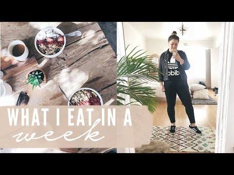 WHAT I EAT IN A WEEK TO STAY HEALTHY + AT HOME FITNESS ROUTINE   |   South African Vlogger