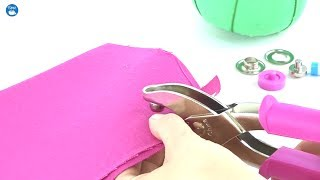 How to use Dritz Grommet Pliers