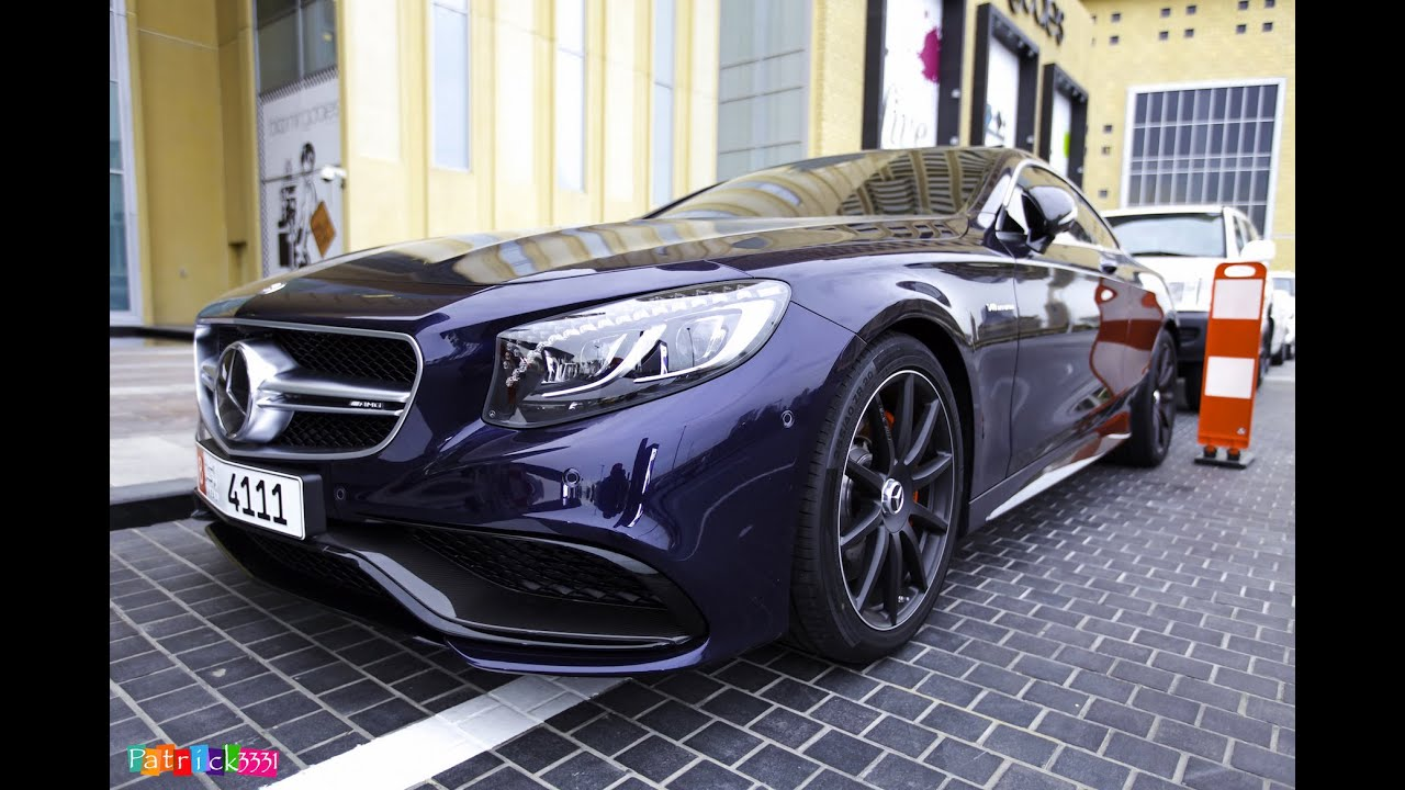 2015 S63 AMG 4matic Coupe Mercedes-Benz in dark blue - YouTube