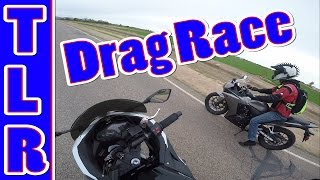 CBR 500 VS Ninja 300 Drag Race