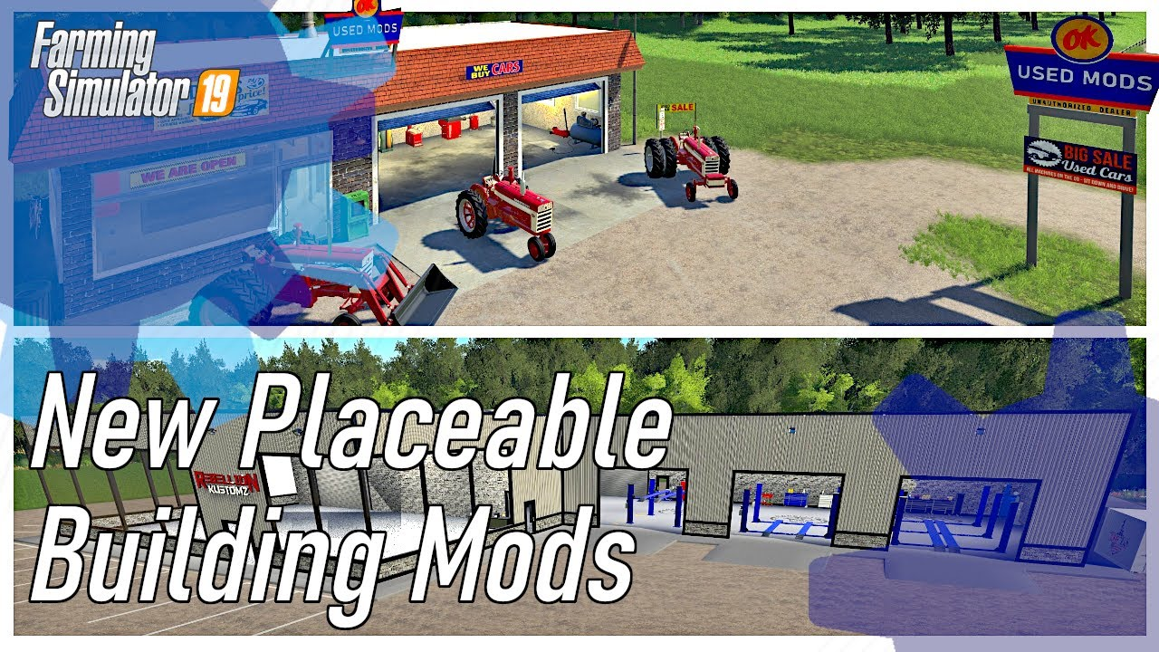 NEW BUILDINGS AND THE FARMALL TRACTOR PACK | FS19 Best Mods | Farming Simulator 19